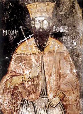 св. Цар Борус Покръстител стенопис 9ти век, st. tzar Boris I the baptizer of Bulgaria