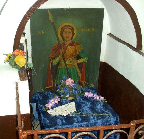 Свети вмчк. Георги Победоносец, Поморийски манастир икона Аязмо, st. great marty Georgi holy spring icon